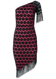Alternate View One Shoulder Fringe Dress