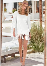 Front View Fringe Detail Cover-Up