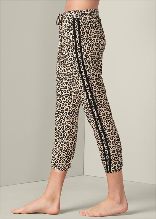 STRIPE DETAIL SLEEP JOGGER,ANIMAL LACE HIPSTER