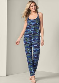 Full front view Print Sleep Pant Set