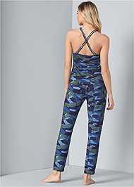 Full back view Print Sleep Pant Set