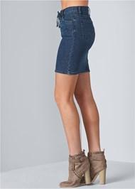 Alternate View Lace Up Denim Skirt