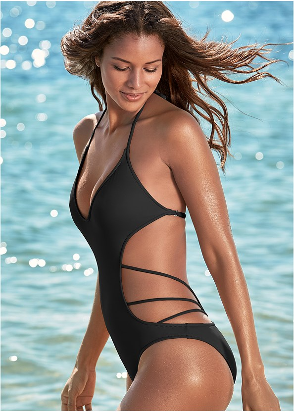 Spellbound Monokini,Braided Tie Strap Dress