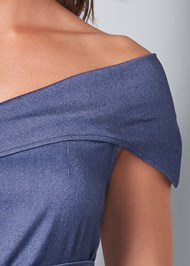 Alternate View Tie Front Chambray Top
