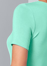 Detail back view Ruched Maxi Dress