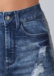 Alternate View Rhinestone Stripe Shorts
