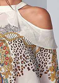 Alternate View Embellished Print Blouse
