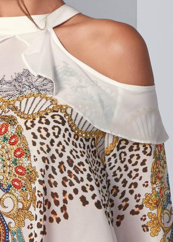 Alternate View Embellished Print Blouse