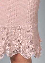 Alternate View Crochet Detail Midi Dress