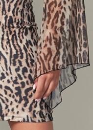 Alternate View Leopard Bodycon Dress