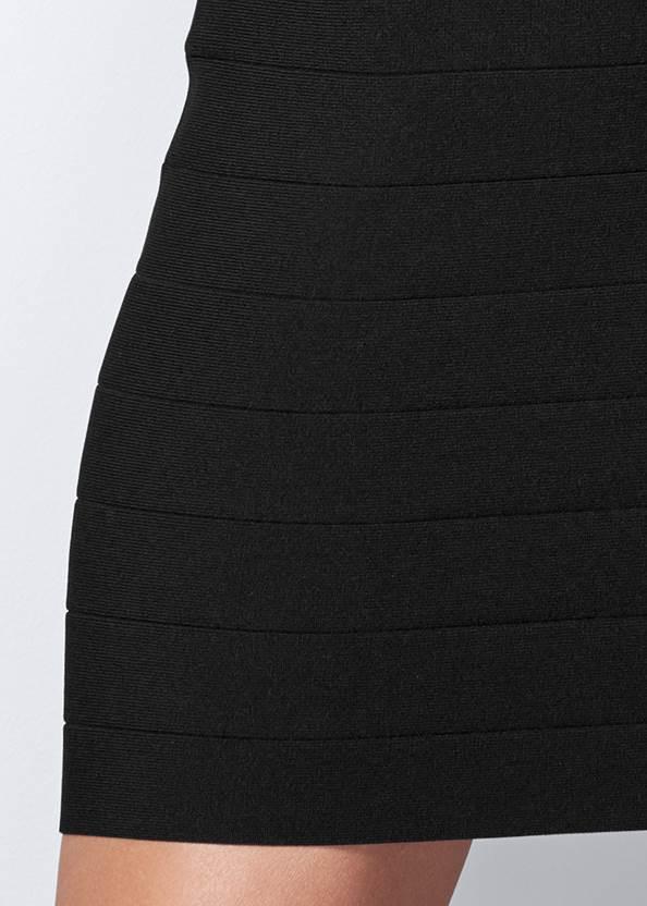 Alternate View One Shoulder Ruffle Bandage Dress