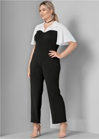plus size twofer jumpsuit
