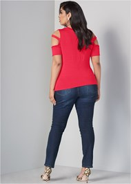 Back View Twisted Knot Detail Top
