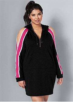 plus size stripe lounge dress