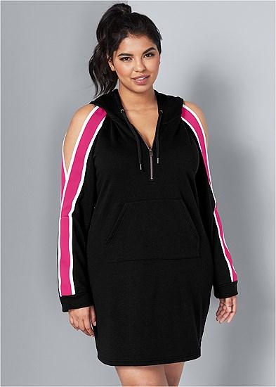 Plus Size Stripe Lounge Dress
