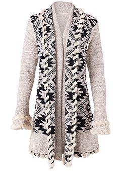 plus size mixed print duster