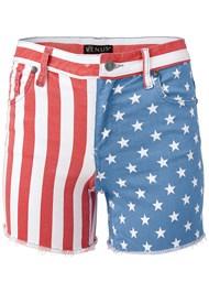 Alternate View American Flag Denim Shorts