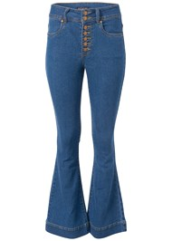 Alternate View High Waisted Flare Jeans