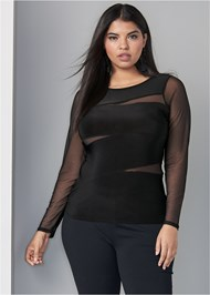 Front View Mesh Detail Top