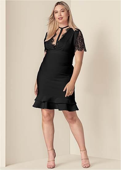 Plus Size Bandage Strappy Dress