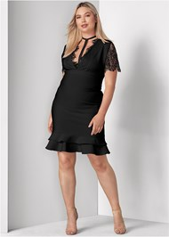 Front View Slimming Strappy Dress