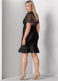 Back View Slimming Strappy Dress