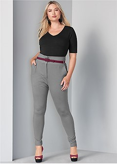 plus size high waist pant