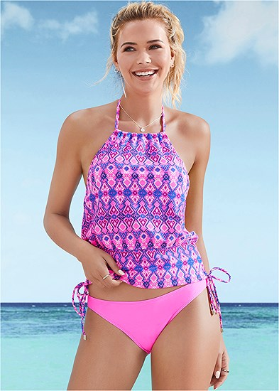 High Neck Tankini Set