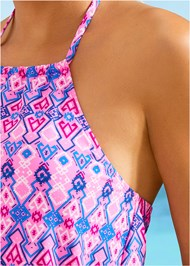 Alternate View High Neck Tankini Set