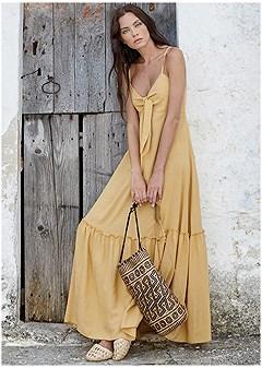boho maxi cover-up dress