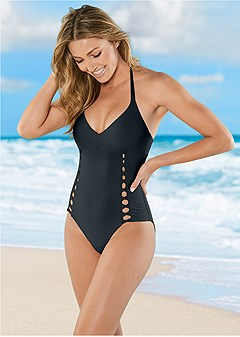 ballet cut out one-piece