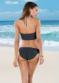 Full back view Cross Over Bandeau Top