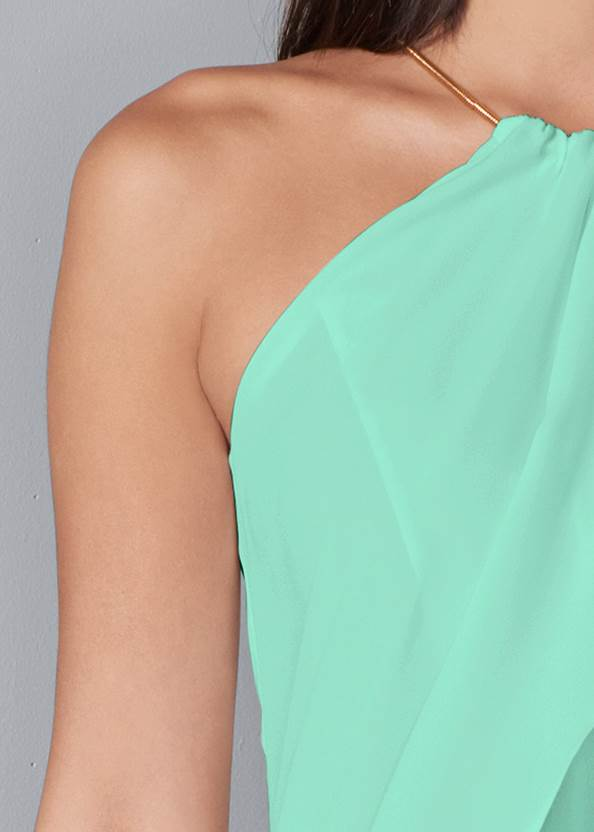 Alternate View High Low Chain Detail Top