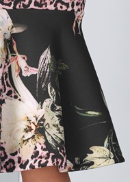 Alternate View Floral Animal Bodycon Dress