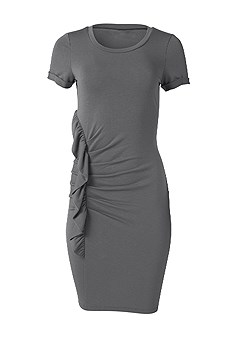 plus size ruffle detail lounge dress