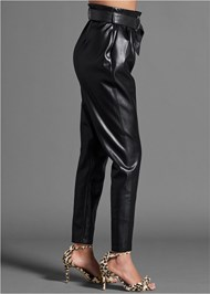 Alternate View Faux Leather Belted Pant