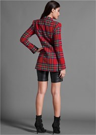 Full back view Plaid Blazer