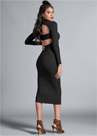 Alternate View Cut Out Ribbed Dress