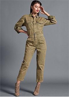 cuffed boiler jumpsuit