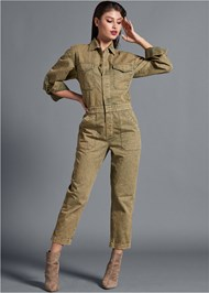 Full front view Cuffed Boiler Jumpsuit
