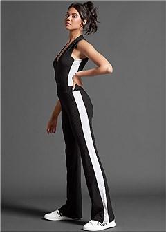 side stripe ribbed bodysuit