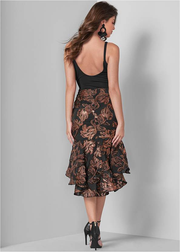 Full back view High Low Dress