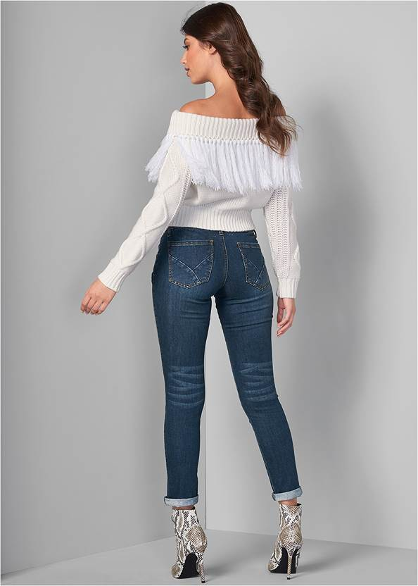 Back View Off The Shoulder Sweater