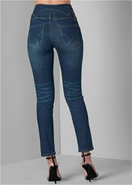 Back View High Waisted Skinny Jeans
