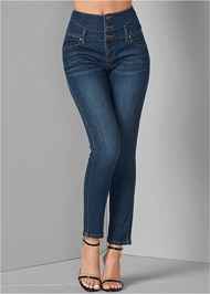 Front View High Waisted Skinny Jeans