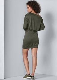 Back View Lace Up Detail Lounge Dress