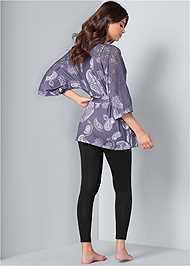 Full back view Lace Detail Robe