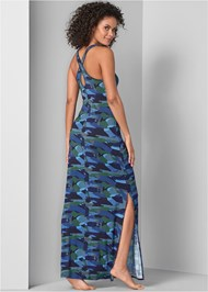 Back View Camo Sleep Dress