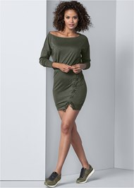 Alternate View Lace Up Detail Lounge Dress