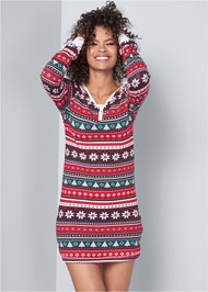 Front View Holiday Sleep Dress